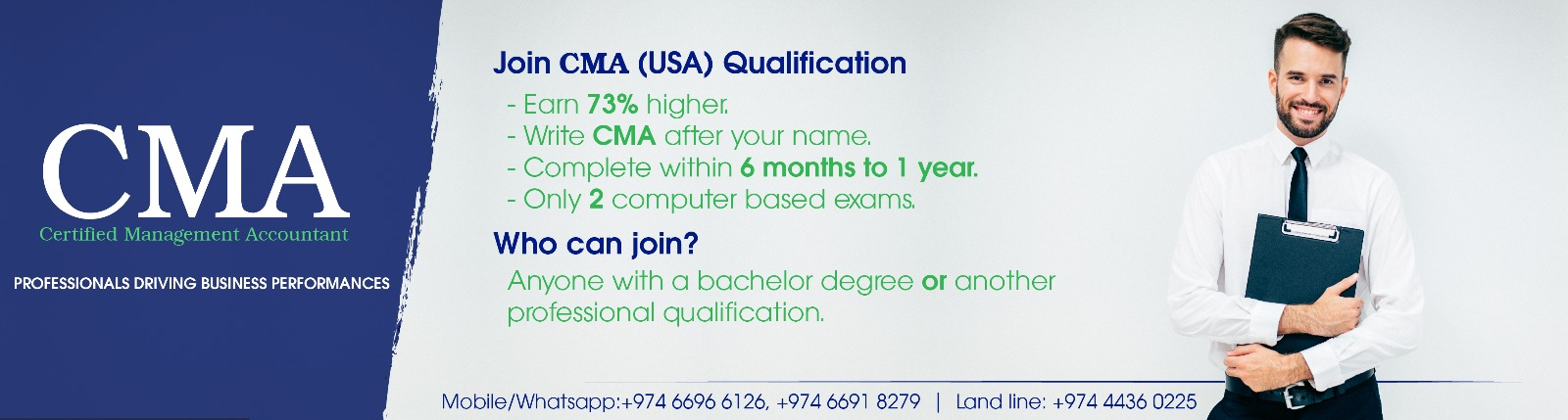 CMA Qatar Training Doha Tuition IMA